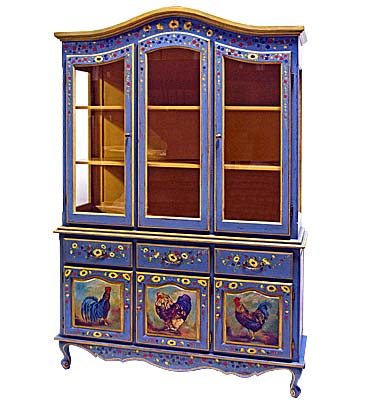 Hand Painted Furniture   Piece Of The Week   French Provincial China Cabinet